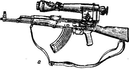 Рис. 52. прицел НСПУ на оружии:
