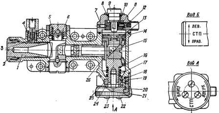 Рис. 54. Механизм углов прицеливания