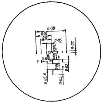 Рис. 55. Вид поля зрения прицела НСПУ