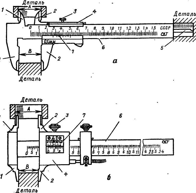 Контрольно измерительные инструменты  Рис 131 Штангенциркули